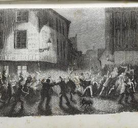 Emeute de Troyes. Almanach de Troyes 1848. Médiathèque du Grand Troyes. Photo: E. Bord