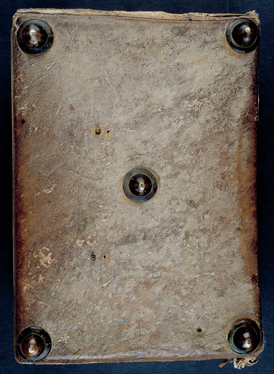 Reliure médiévale typique. Bible des comtes de Champagne, 12e siècle [Ms 2391].